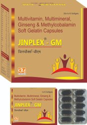 Multivitamins, Minerals with Ginseng & Methylcobalamin (Jinplex-GM), Packaging Size: 10x10 Capusles, Prescription