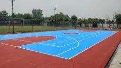 Acrylic Outdoor Basketball Court Construction Service