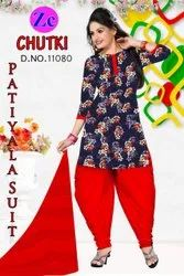 Blue Casual Wear Printed Suit