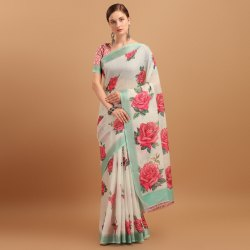 Latest Collection Linen Saree