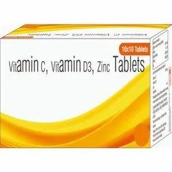 Vitamin C, Vitamin D3, Zinc Tablets