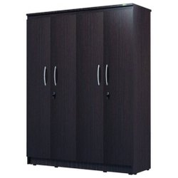 Melamine Faced PLPB Four Door Wardrobe, For Bedroom