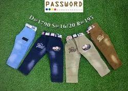 Kids Jeans In Dusty Colors