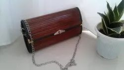 Brown Shoulder Bag Bamboo Handcrafted Bags, Size: 6