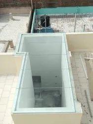 Toughened Glass Pergola Work