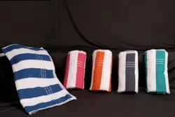 Multicolor 100% Cotton - Striped Terry Towels, For Bathroom, Size: 30x60