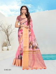 Ladies Digital Printed Cotton Saree
