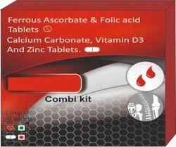 Ferrous Ascorbate & Folic Acid Tablets, Calcium Carbonate, Vitamin D3 And Zinc Tablets