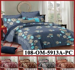 Vibrant King Size Cotton Bedsheet