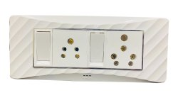 12A White Conventional Modular Electrical Switch Board