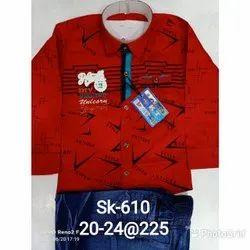 Red & Blue Boy Kid's Suit