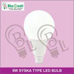 Aluminium Insert Round 9W Syska Type LED Bulb