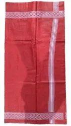 Red Cotton Printed Gamcha, Rectangular, Size: 160x80cm