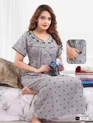 Full Length Regular Wear Ladies Cotton Nightwear, Free Size, Age Group: 22 Up To