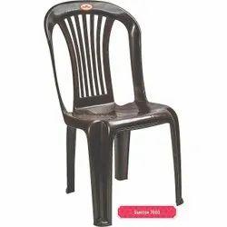 Black Plastic Armless Chair