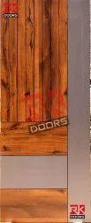 RK Dooors Brown 81x32 Inch Teak Wood Laminate Door