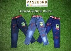 Denim Party Wear Kids Jean, Size: 20-30, Dry clean