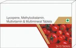 Lycopene, Methtylcobalamin, Multivitamin & Multiminerals Tablets