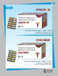 Glimepiride Pioglitazone and Metformin HCl SR Tablets
