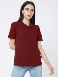 Behariji Enterprises Half Sleeve Polo T Shirt For Girl, Size: XS to XXL