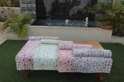 Kantha Hand Block Print Patch Bedcover