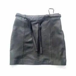 MBE/Mm Black Leather Skirt