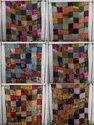 Silk Patch Kantha  Bed Covers