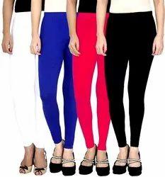 40 Plus Colors Churidar Ladies Casual Plain 4 Way Leggings