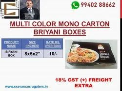 Biriyani box Mono carton with multi colour printed