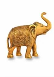 Gold Plated Decorative Elephant Statue For Decoration