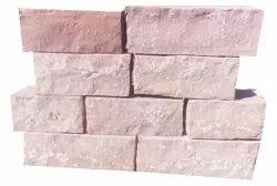 Sandstone Rectangular Natural Stone Wall Bricks, Thickness: 15 Cm, Size: 20x40 Cm