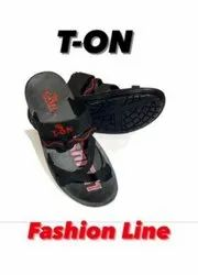 Flats & Sandals Printed T-ON Gents Fashion Line Sandal, For Footwear