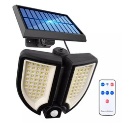 Cold White Solar 90COB 2 Heads LED Motion Sensor Light, Mounting Type: Wall Mounting