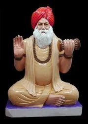Brown Marble Human Sant Maharaj Statue, For Decoration