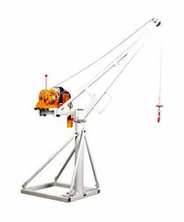 Single Phase Small Portable Electric Material Lifting Mini Crane For Construction