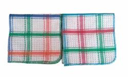Dobby Multicolor Cotton Superior Honeycomb Kitchen Napkin, 14x14 Inch, For Wiping And Cleaning