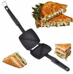 Non-Stick Aluminium Gas Toaster Grill for Snack and Sandwiches Toaster, Model Name/Number: Sandwich Maker