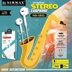 Mobile White NIRMAX NM-ER02 Stereo Earphone