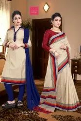 Atulya Sarees Send Crepe Ladies Cotton Salwar Suit Dress Material, For Daily Wear