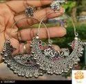Oxidised Silver Earrings. Rs:250