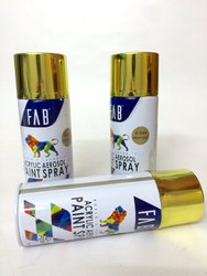 Bright Gold Aerosol Spray Paints - FAB Brand