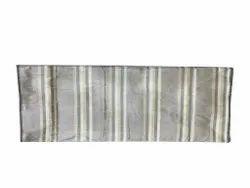Grey Striped Raw Silk Fabric, For Garments