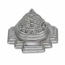 Silver Parad Meru Shree Yantra, Size: 3x3inch