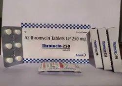 Throtocin-250 Azithromycin 250mg Tablets, 60 Tablets