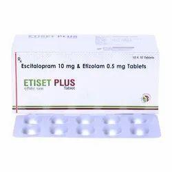 Escitalopram 10 Mg + Etizolam 0.5 Mg Tablet