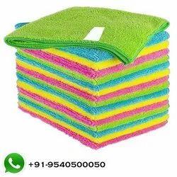 Plain Microfiber Towel, 250-350 GSM