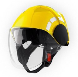 Fiber Glass Yellow Fire Man Safety Helmet, Size: Large