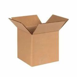 Brown Square 5 Ply Corrugated Paper Packaging Boxes