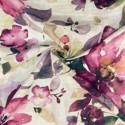 Printed Linen Fabric, GSM: 100-150