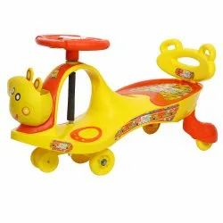 Young Wheel Red Swing Car With Back Support